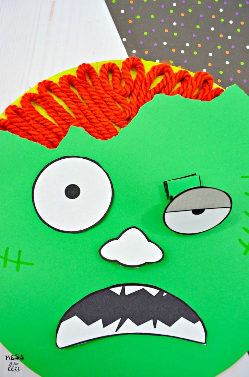 Yarn brains and bouncy eye paper zombie