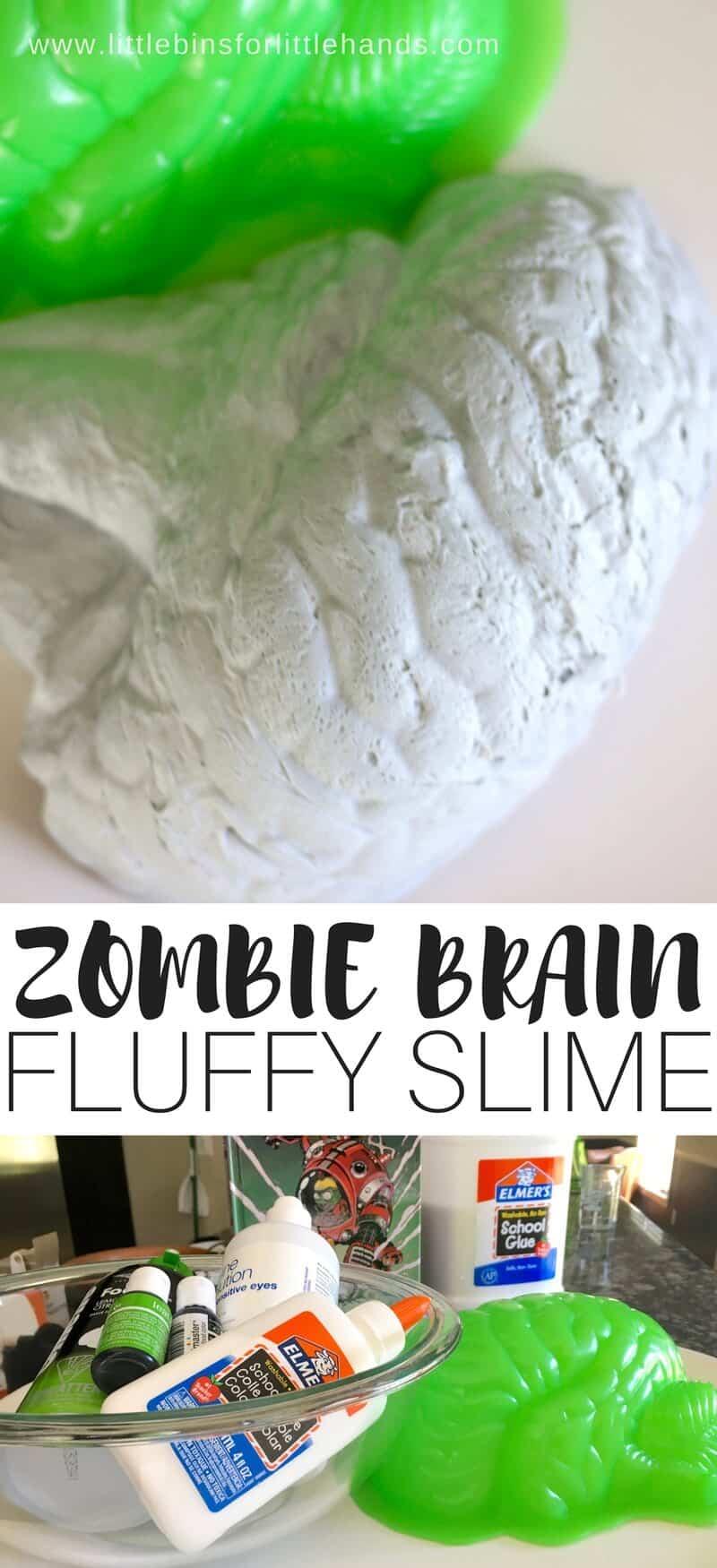Zombie brain fluffy slime