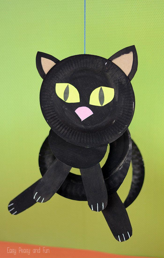 twirly paper plate cat