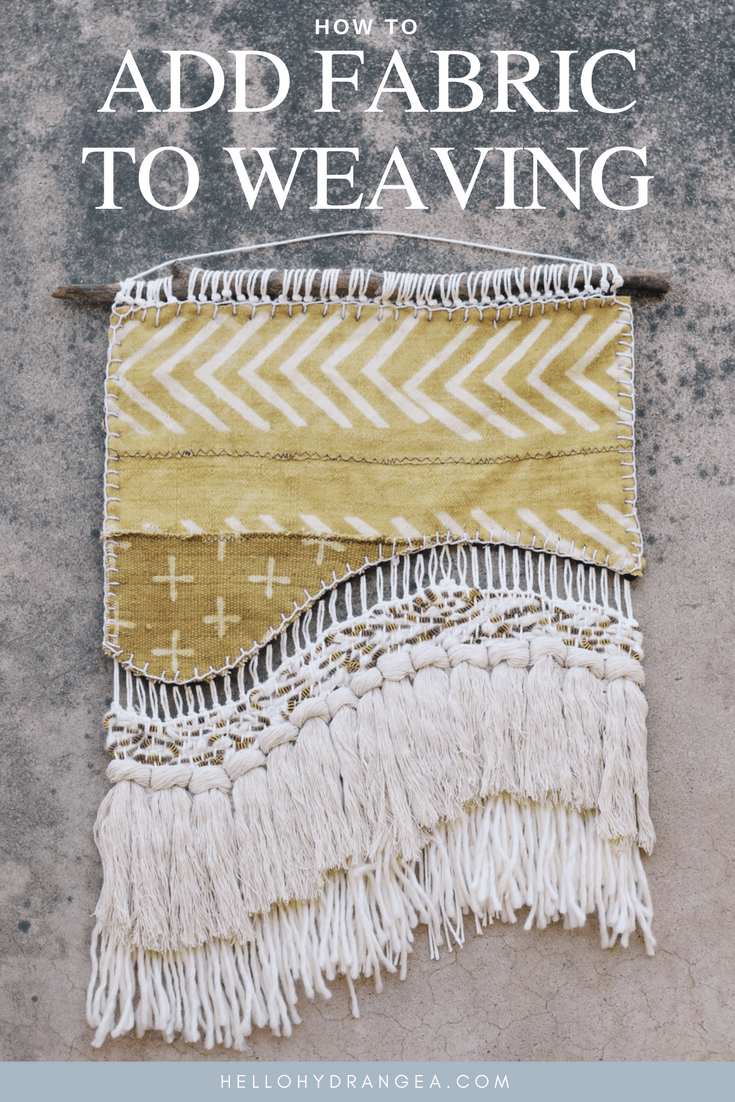 Adding fabric to weaving