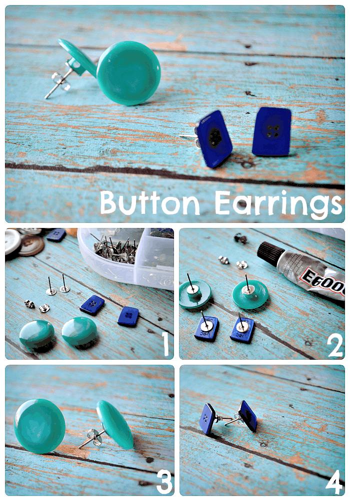 Adorable button earrings
