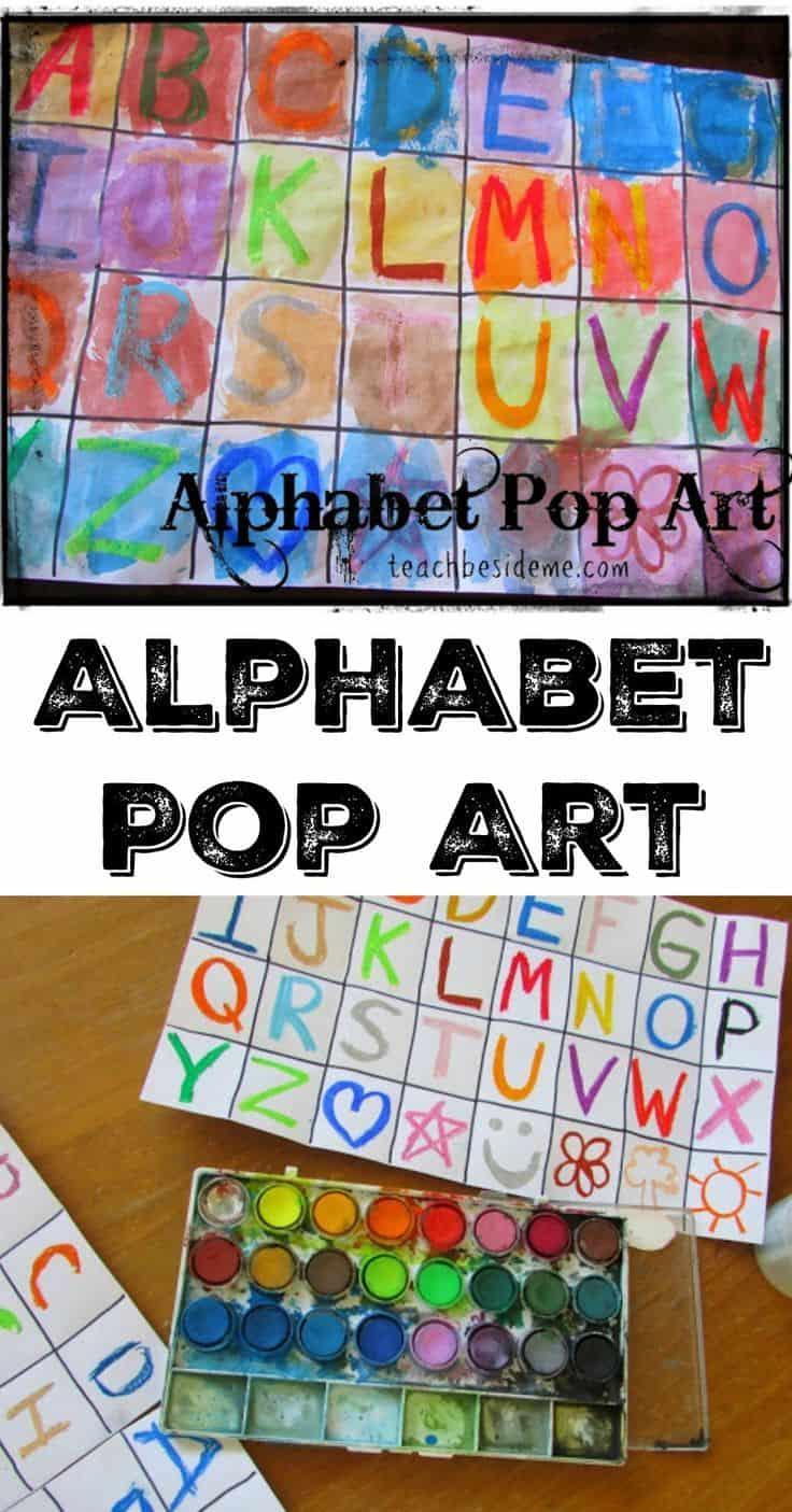 Alphabet pop art kids' craft
