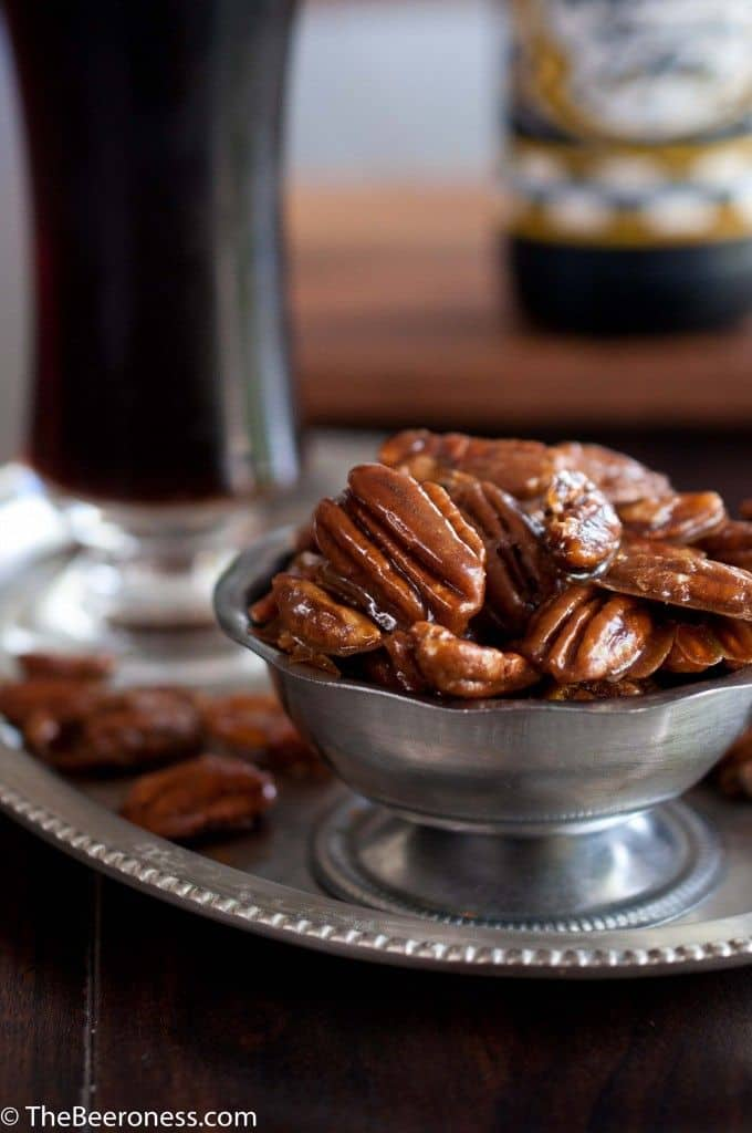 Beer candied pecans