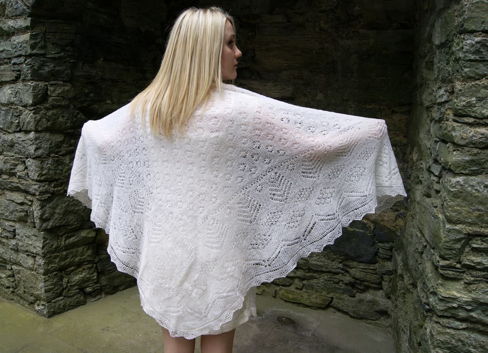 Bespoke wedding shawl