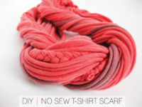 Braids and strings twisted scarf 200x150 Staying Warm and Stylish: Trendy DIY No Sew Scarves