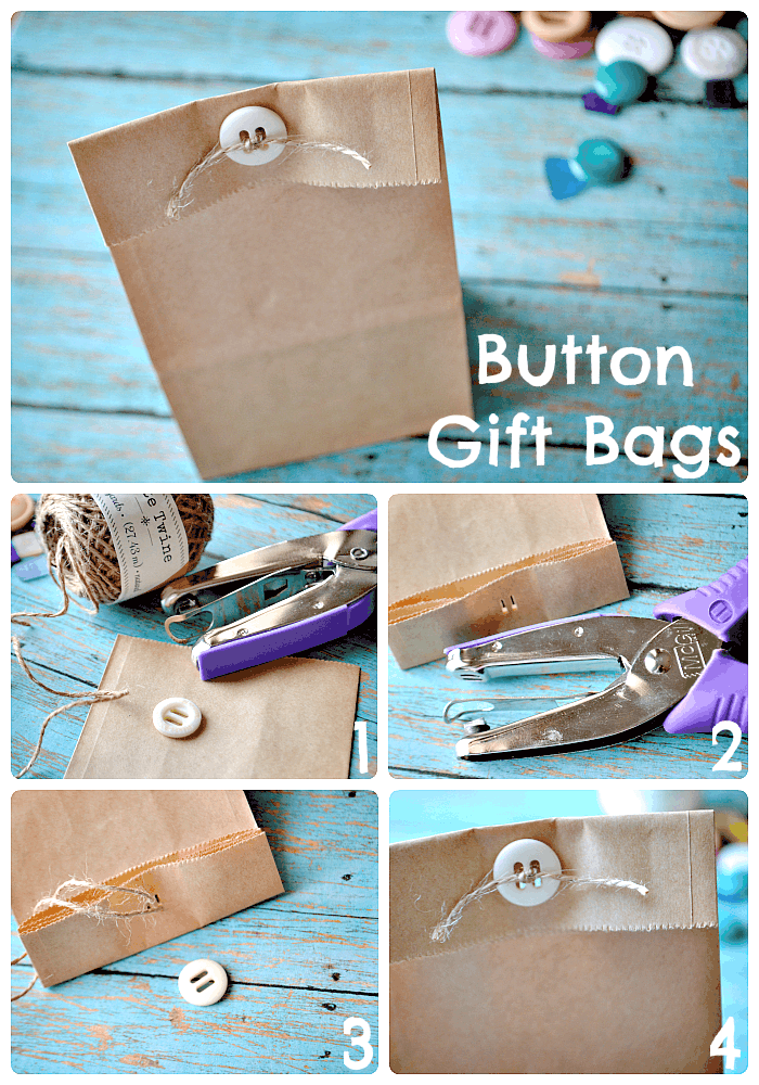 Button gift bags