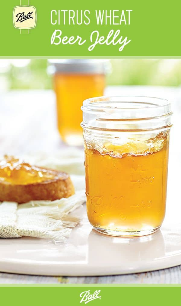 Citrus wheat beer jelly