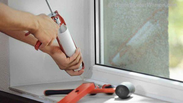 Consider and repair air leaks around widows