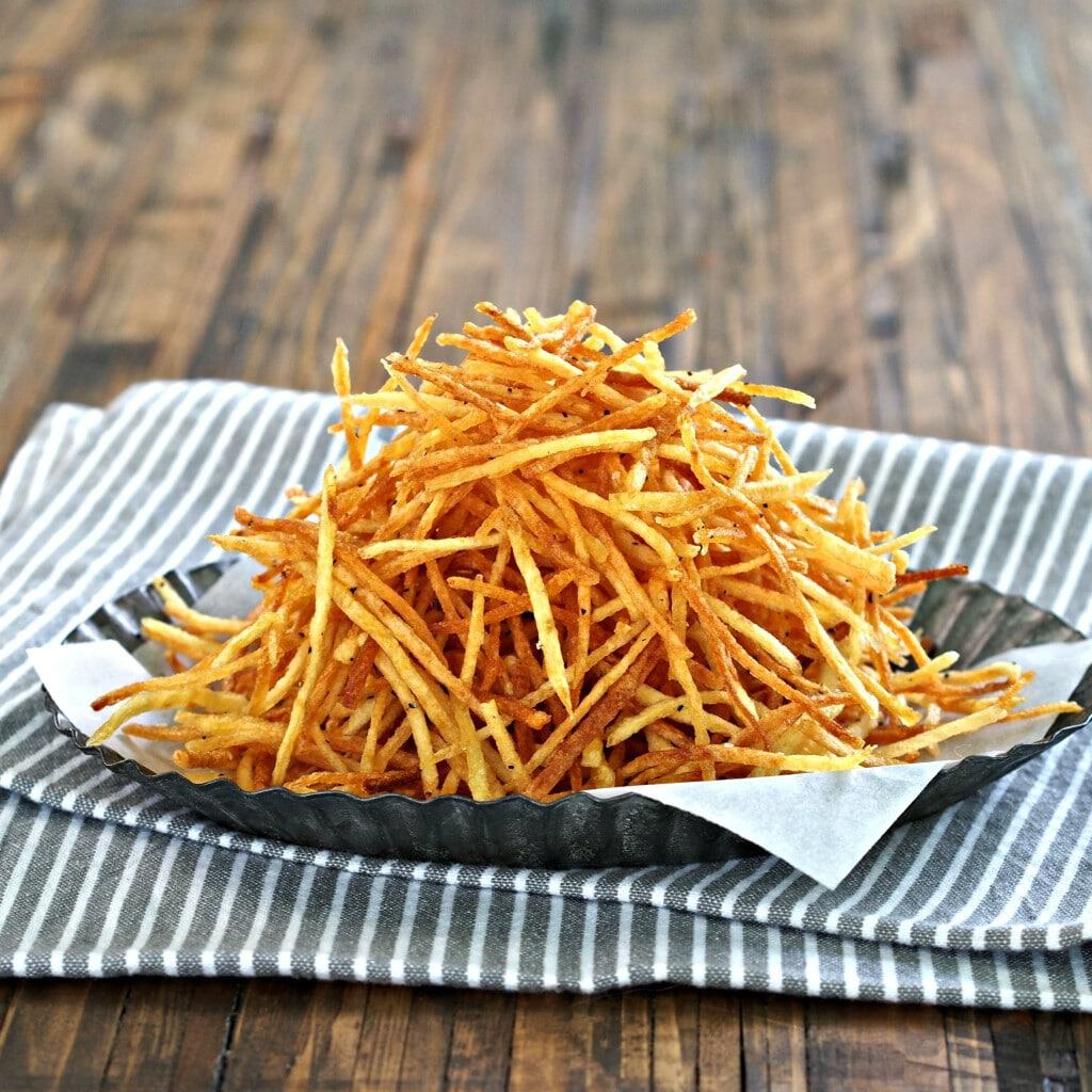 Crispy crunchy shoestring potatoes