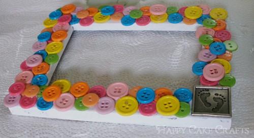 Cute button photo frame