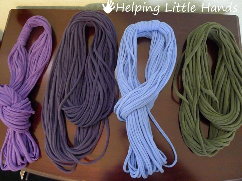DIY T-shirt string scarf
