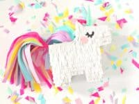 DIY mini unicorn pinata 200x150 Swinging Good Times: Personal Pinatas Full of Liveliness