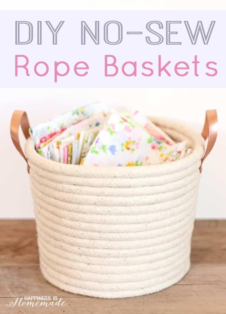 DIY no-sew rope basket