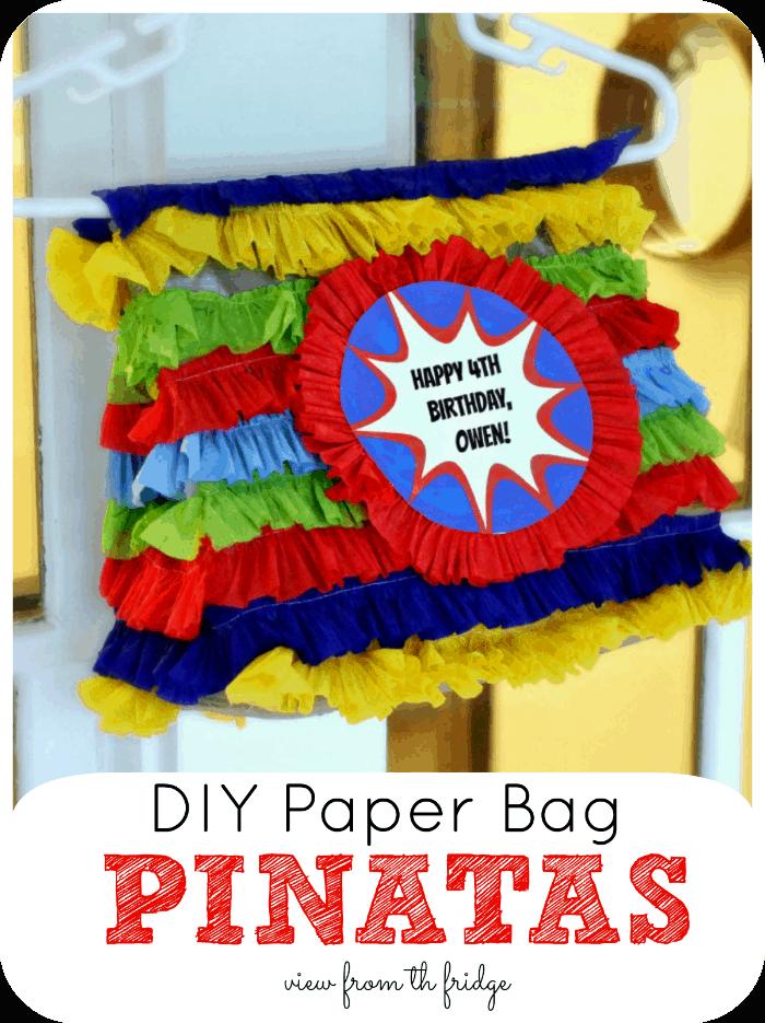 DIY paper bag pinatas