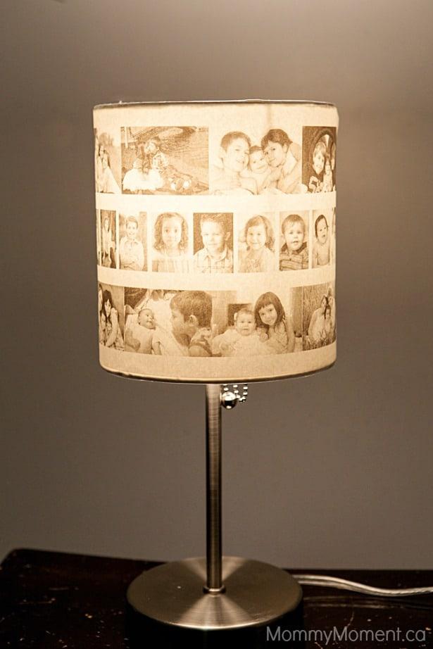 DIY photo lampshade