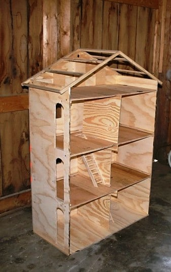 DIY woodworked Barbie house