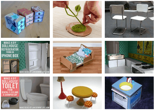 Detailed dollhouse furniture