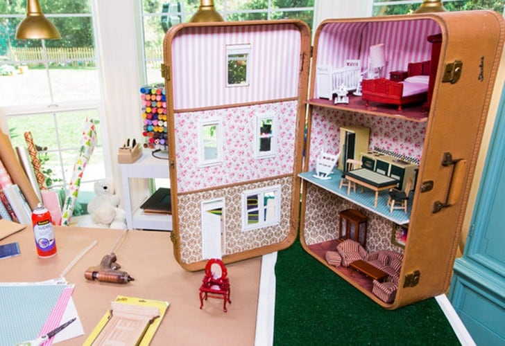 Dollhouse from a suitcase