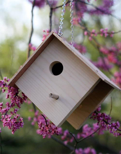 Easy wooden birdhouse