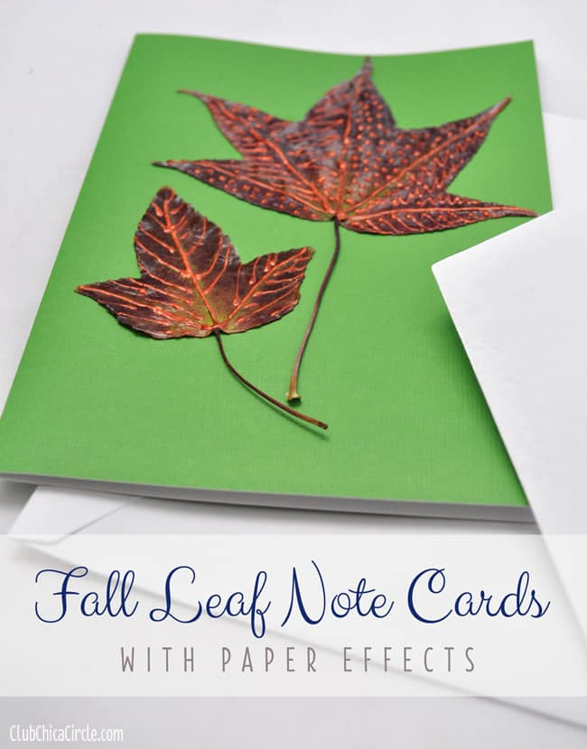 Fall leaf decoupage note bards