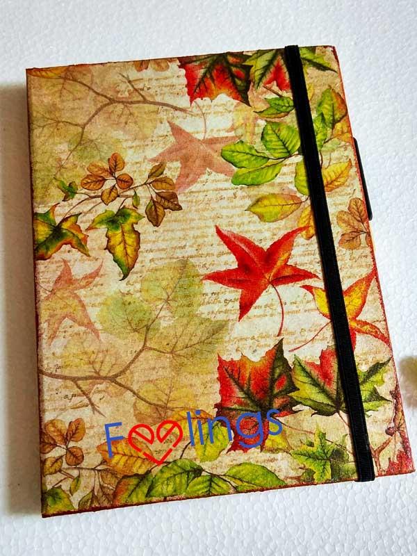 Fall leaf decoupage organizer