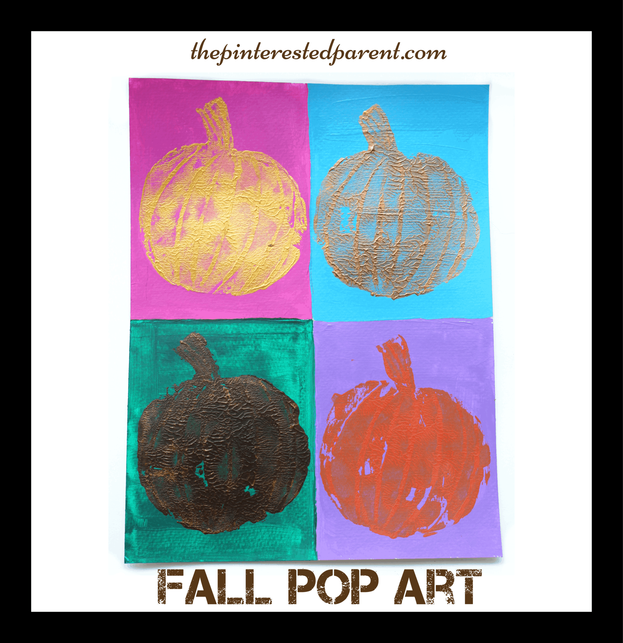 Fall pumpkin pop art