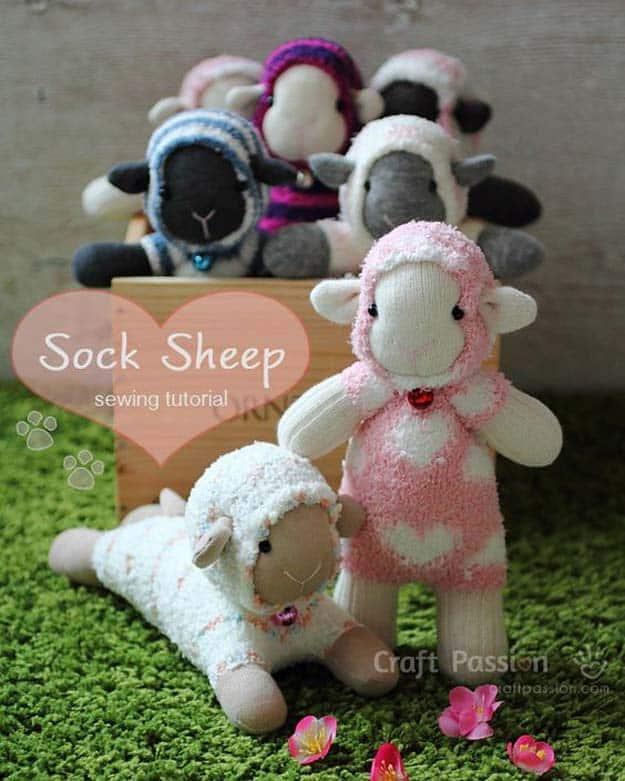 Fuzzy sock sheep