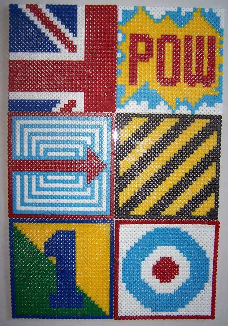 Hama bead pop art
