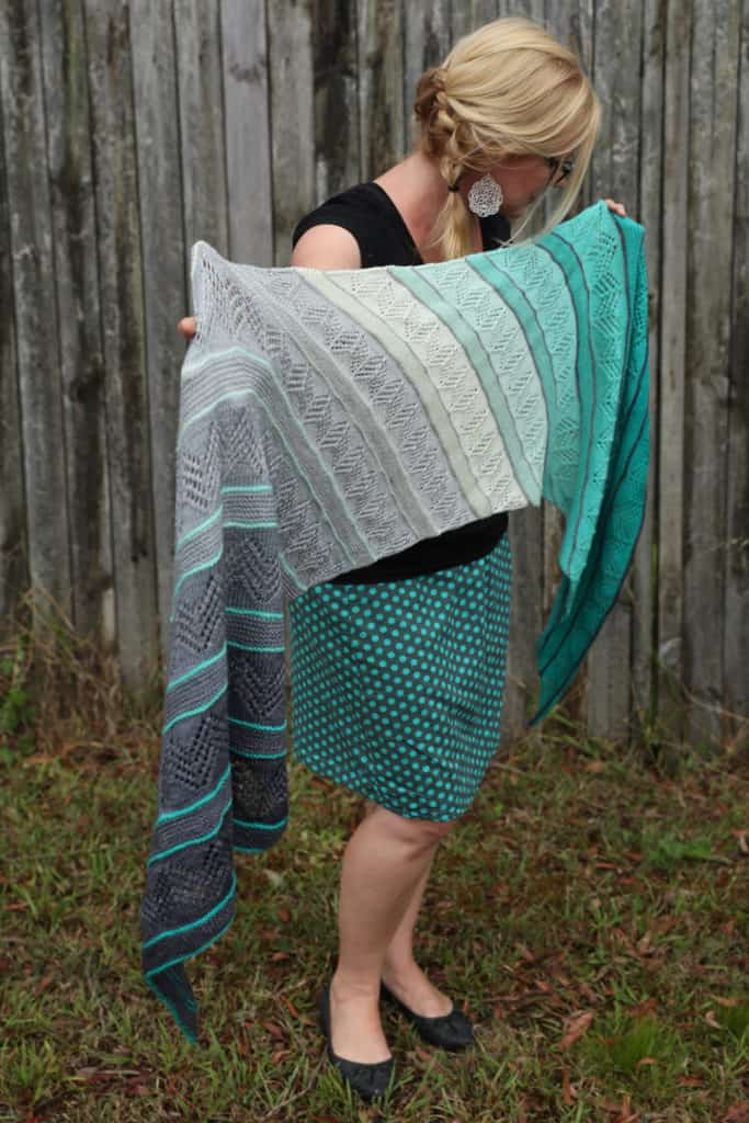 Inara large knitted gradient wrap