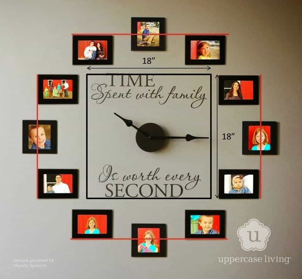 Jumbo photo wall clock