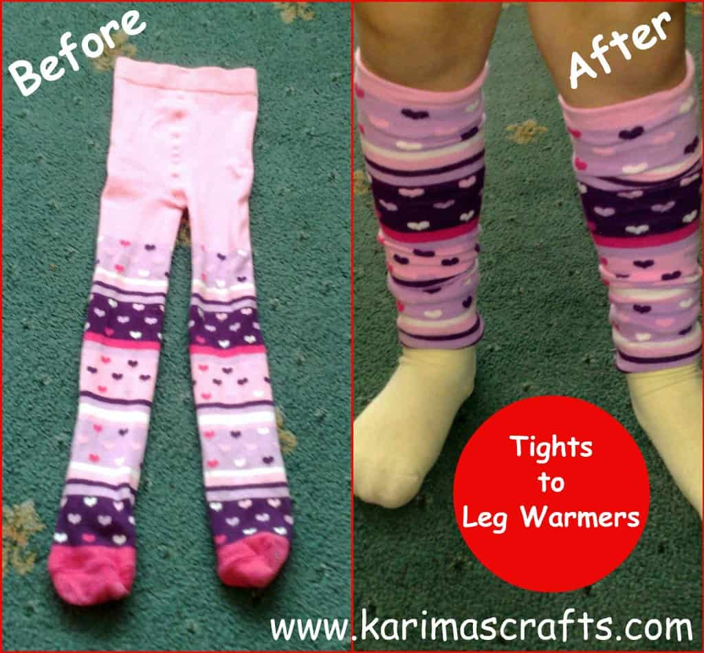 Kids' leg warmers from old tights