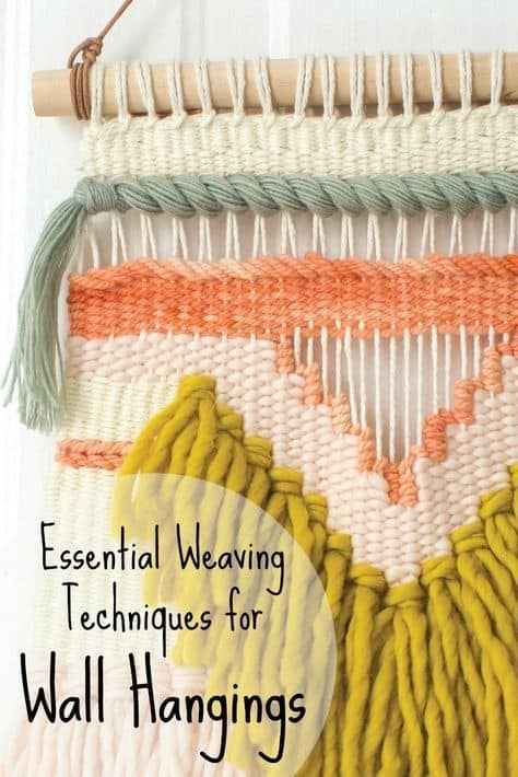 Knotting and weavig with roving