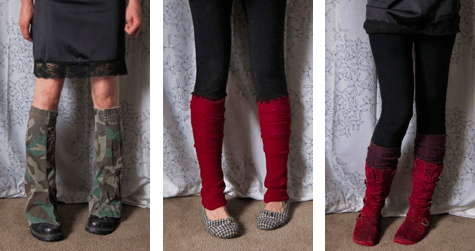 Leg warmers from jacket sleeves