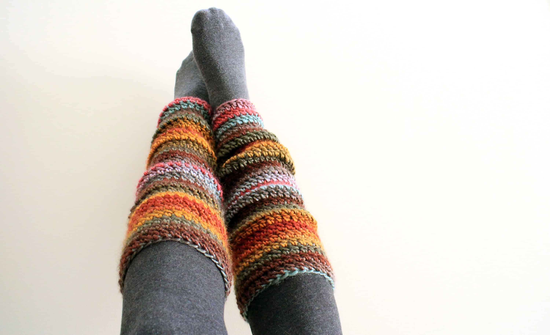Long crochet leg warmers