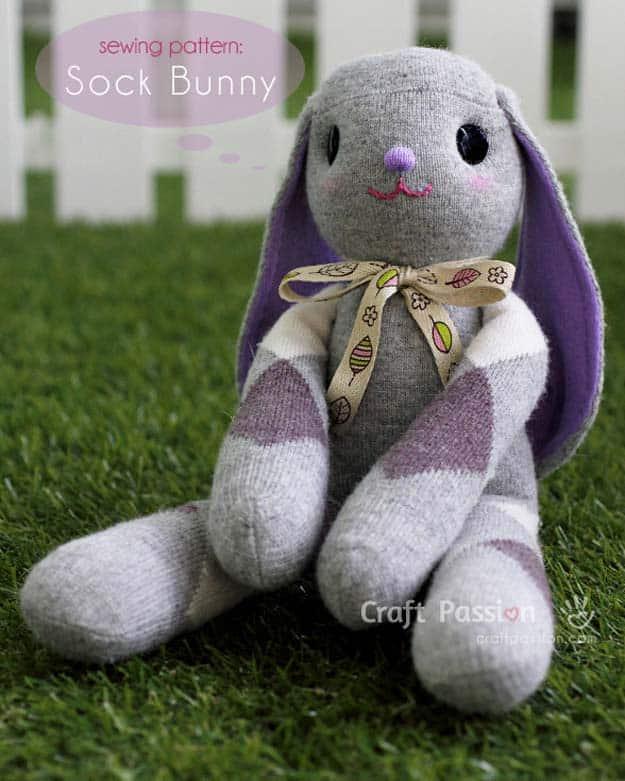 Lop eared sock bunny