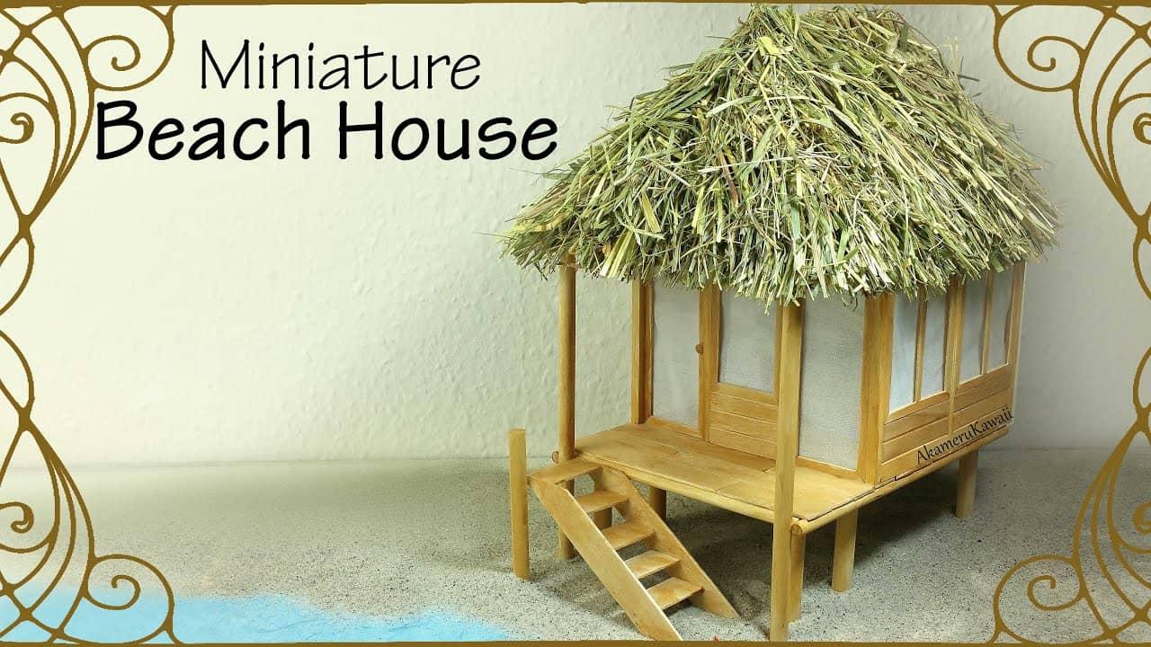 Miniature doll sized beach house