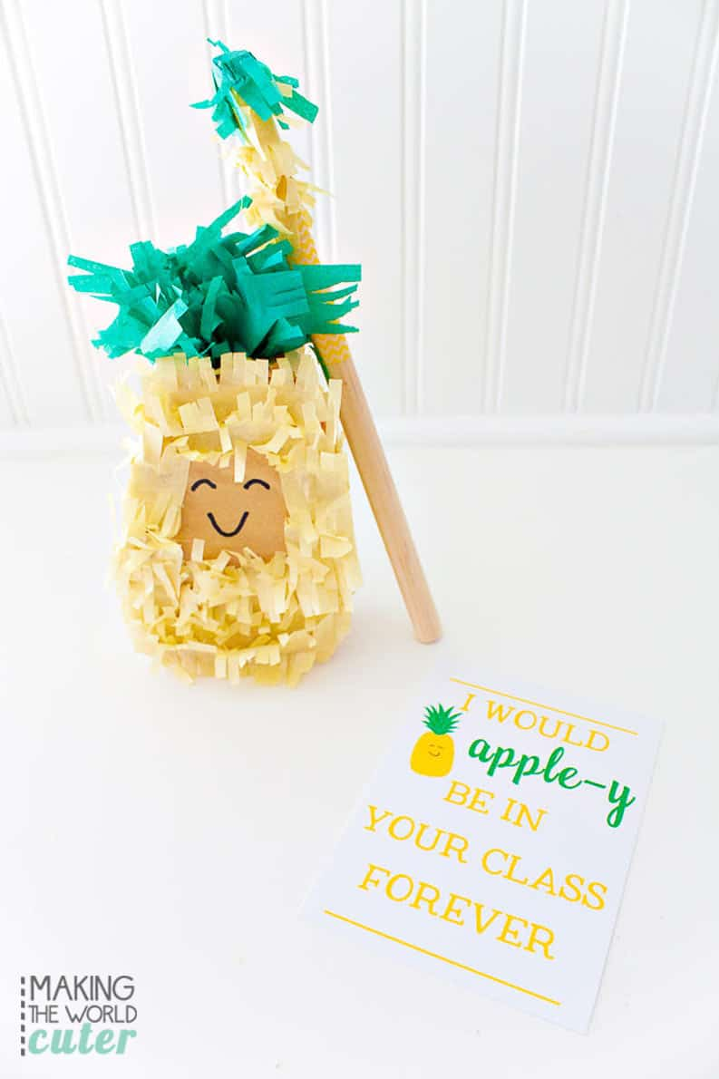 Miniature pineapple pinata