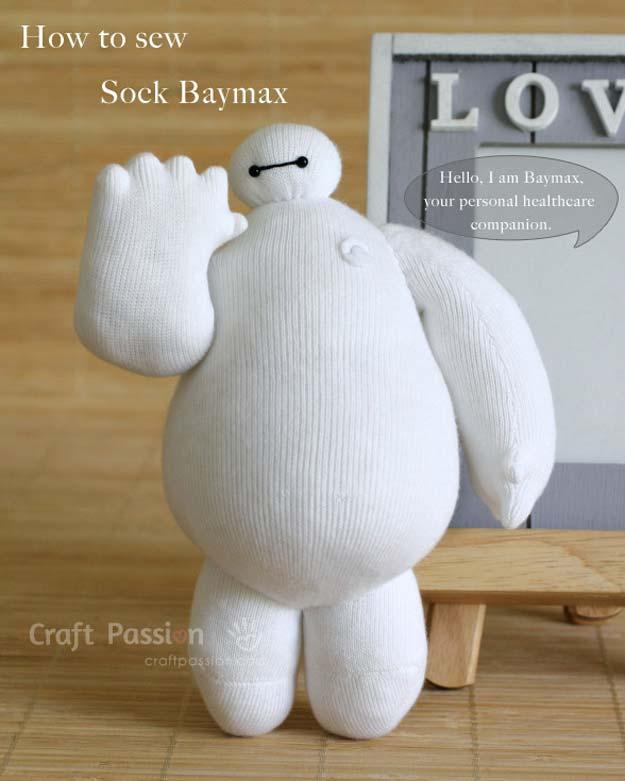 Miniature sock Baymax