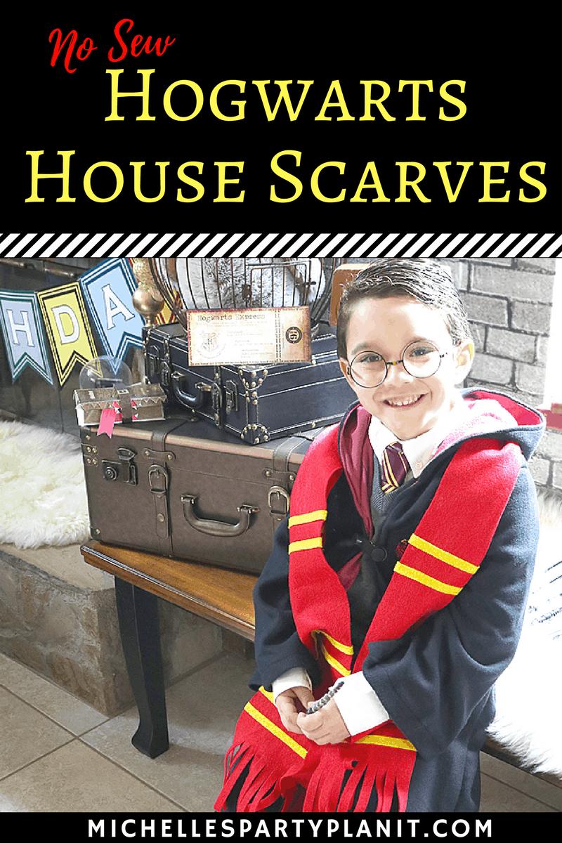 No-sew Hogwarts house scarves