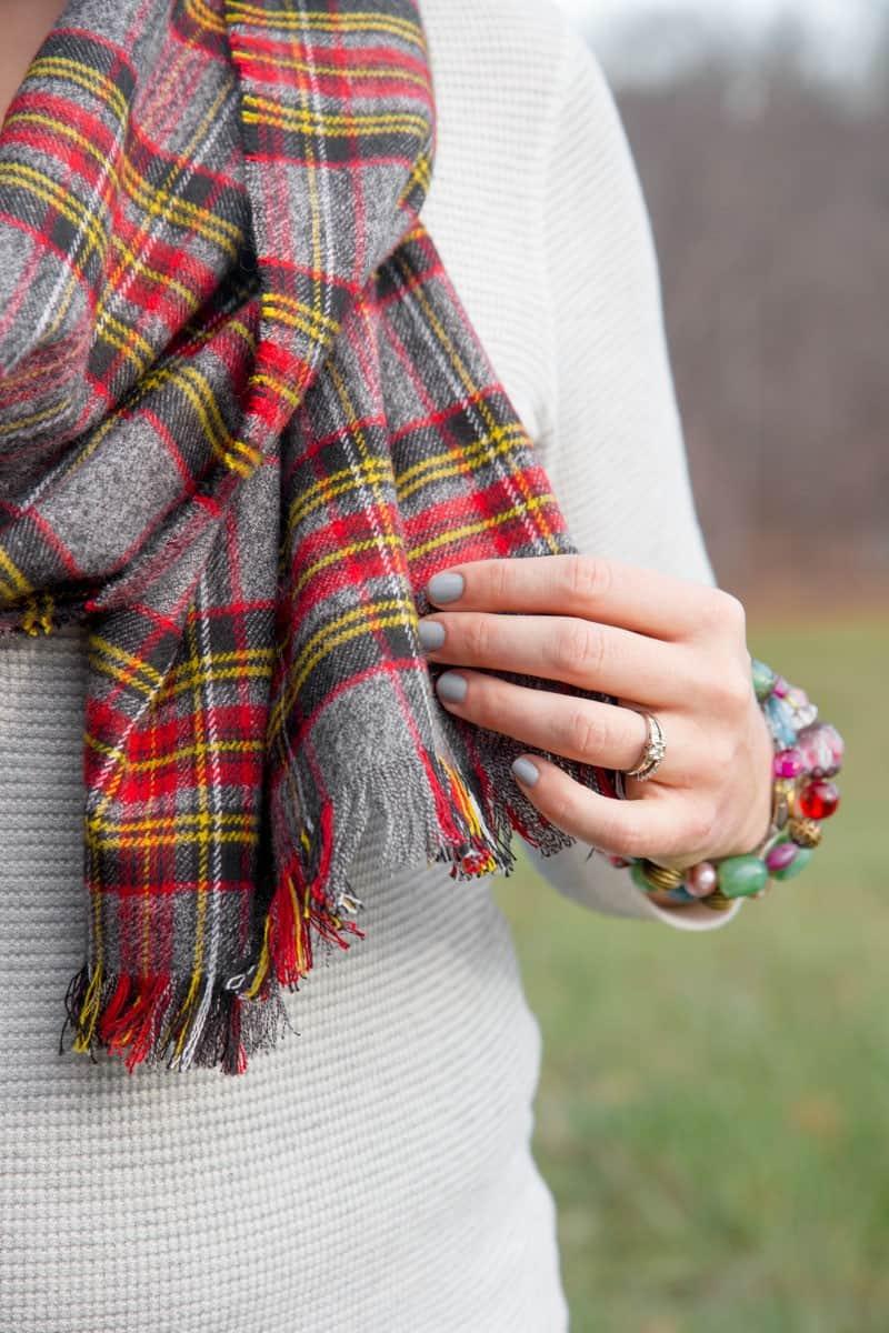 No-sew flannel blanket scarf