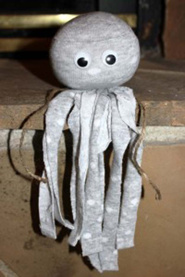 No-sew sock octopus