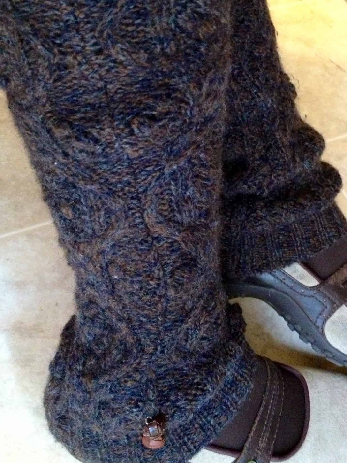 Old school ankle charm leg warmers