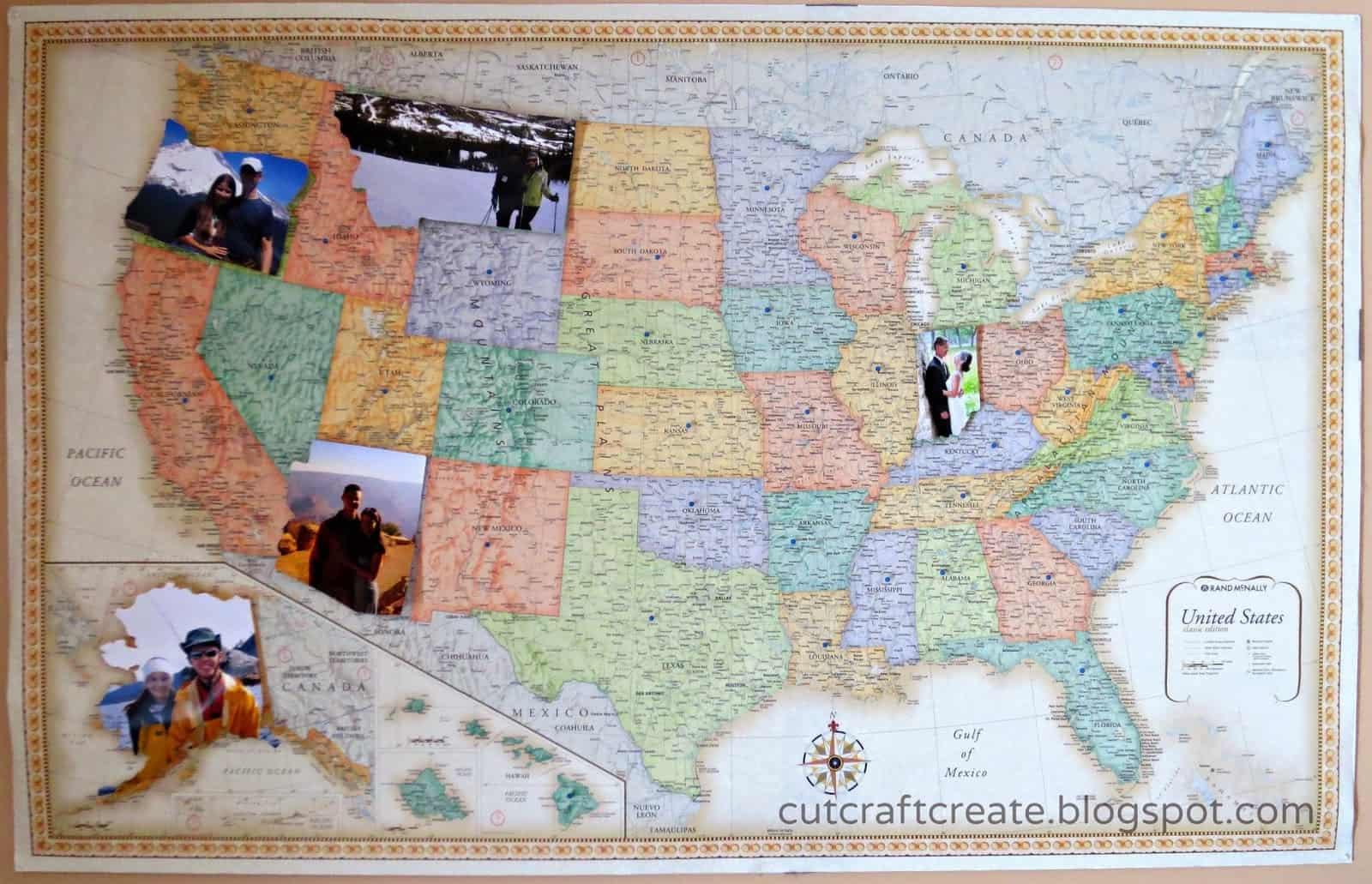 Photo world map