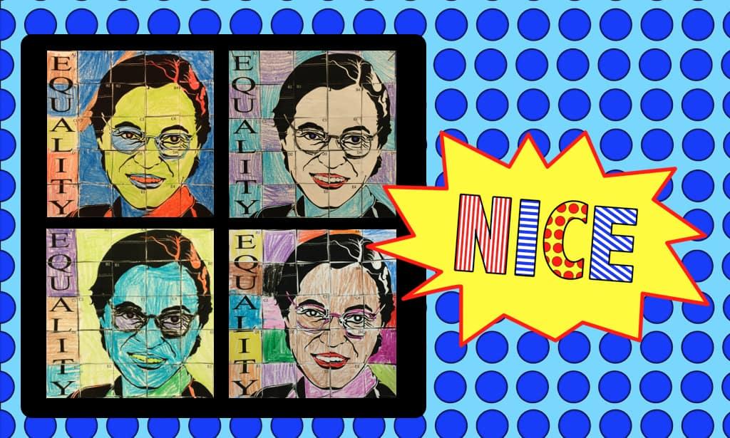 Political figure pop art