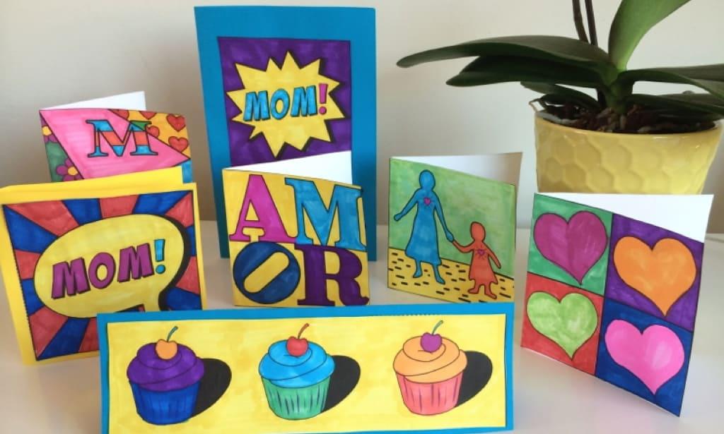 Pop art greetin cards
