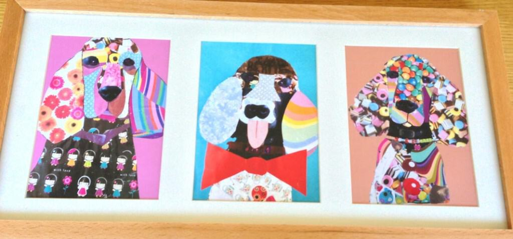 Pop art inspired pet collages