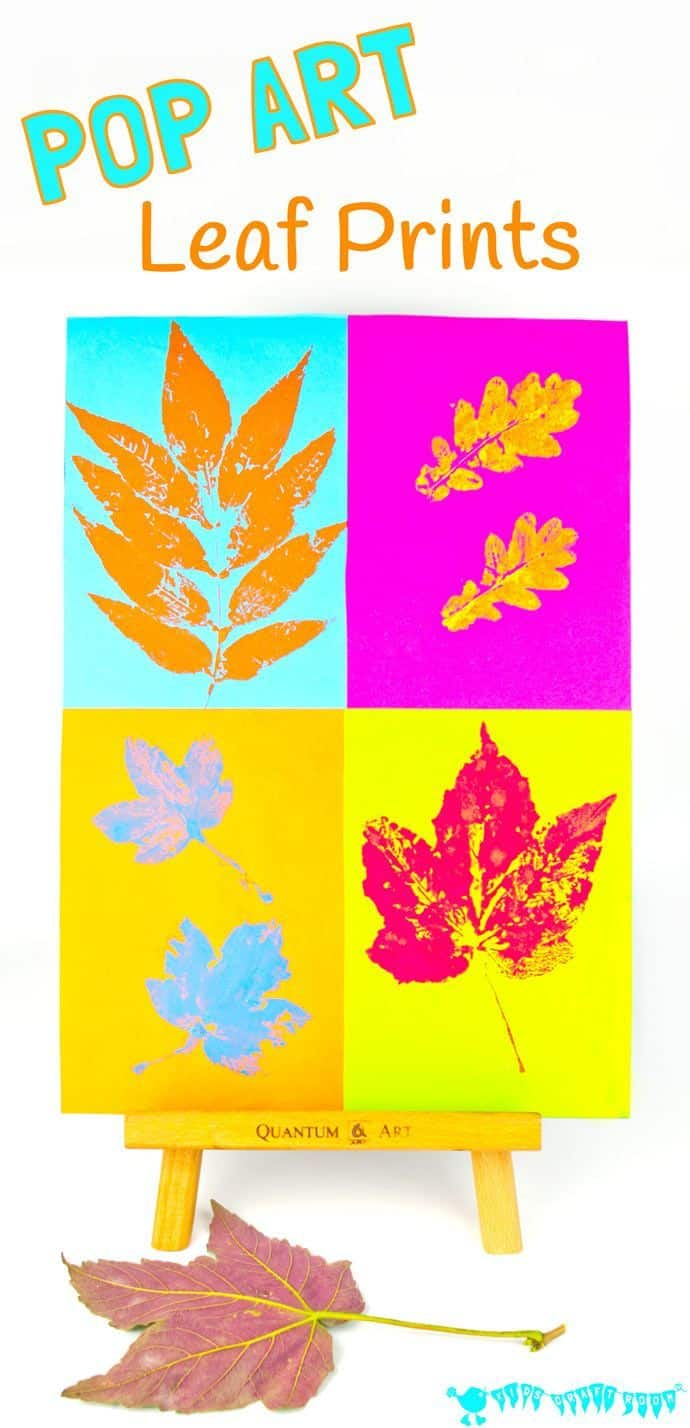 Pop art leaf prints