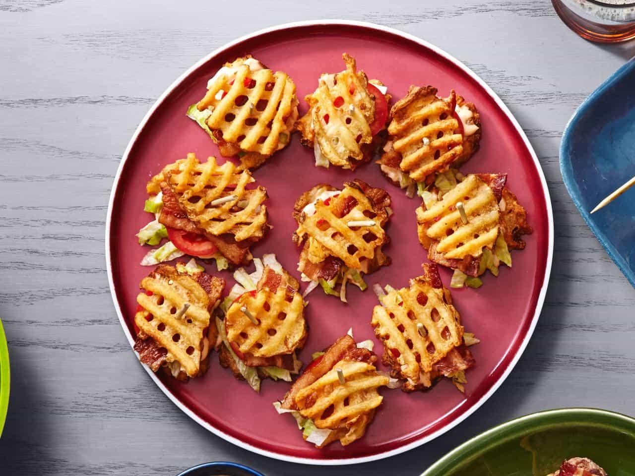 Waffle fry BLTs