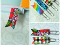 Washi tape and paperclip bookmarks 200x150 Creative DIY Bookmarks for Your Winter Reads