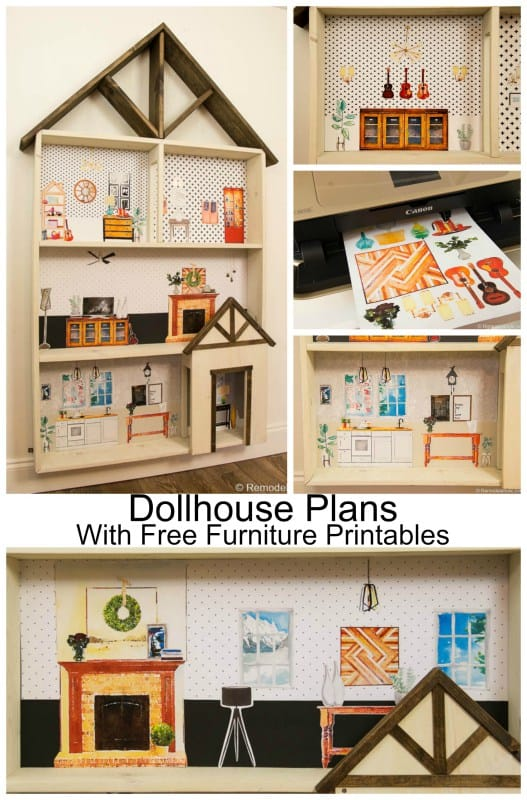 Wooden background dollhouse from scratch